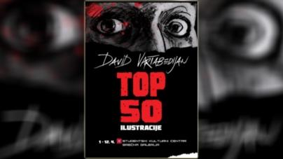 """Izložba ilustracija """"TOP 50"""" Davida Vartabedijana u SKC-u Beograd"""