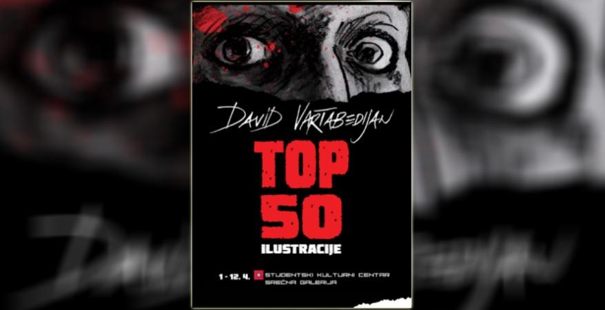 Izložba ilustracija TOP 50 Davida Vartabedijana u SKC-u Beograd