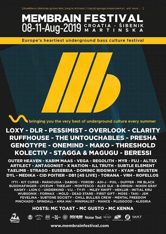 Membrain festival Lineup 2019