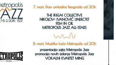 Metropolis Jazz Fest 2019 u Domu omladine Beograda i Muzičkoj kući Metropolis