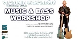 Rock škola Mostar: Music & Bass workshop Vladimira Samardžića u studiju A MC Pavarotti