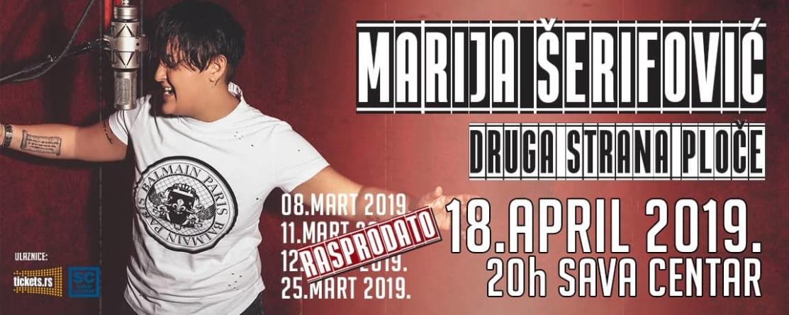 Marija Šerifović 18. aprila u Sava centru