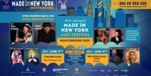 4. Made in New York Jazz Festival, Montenegro 14. i 16. juna u Tivtu i Podgorici
