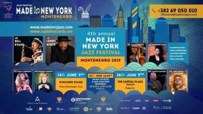 4. Made in New York Jazz Festival, Montenegro 14. i 16. juna u Tivtu i Podgorici