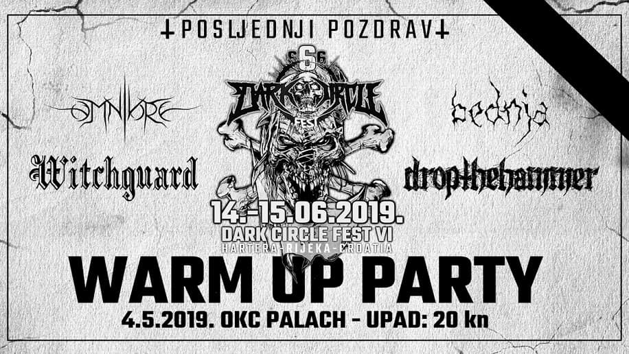 Dark Circle Fest - Warm Up Party ovu subotu u Palachu