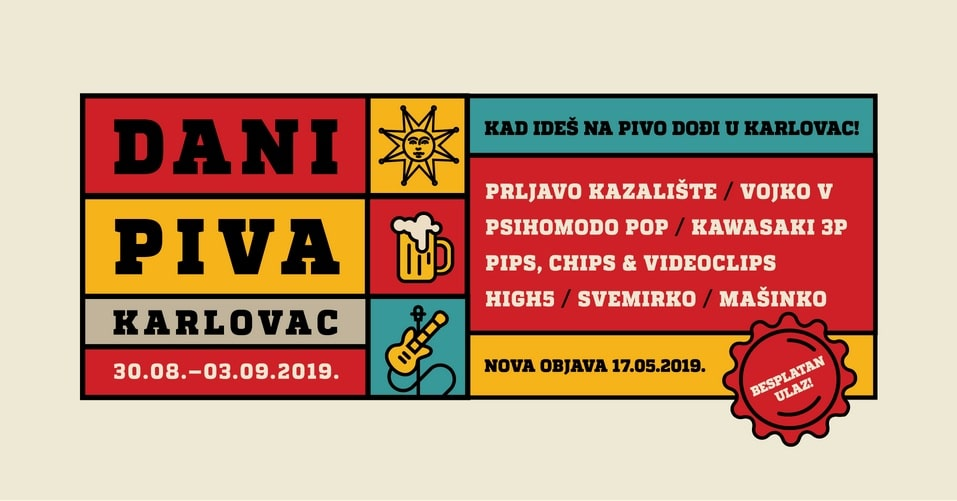 Novi koncept Dana piva Karlovac - Otkrivena prva glazbena imena
