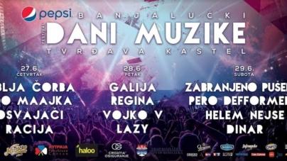 Banjalučki Dani Muzike 2019. na tvrđavi Kastel od 27. do 29. juna