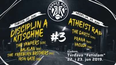 Disciplin A Kitschme, Atheist Rap, The Yawpers i drugi na 3. Border Rock festivalu u Kladovu