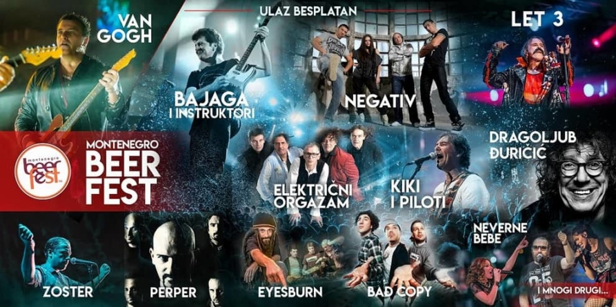 Prvi Montenegro Beer Fest na Cetinju – više od 23 sata besplatnog muzičkog programa od 26-28. jula