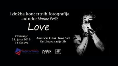 Otvaranje izložbe muzičkih fotografija Marine Pešić 21. juna u Novom Sadu
