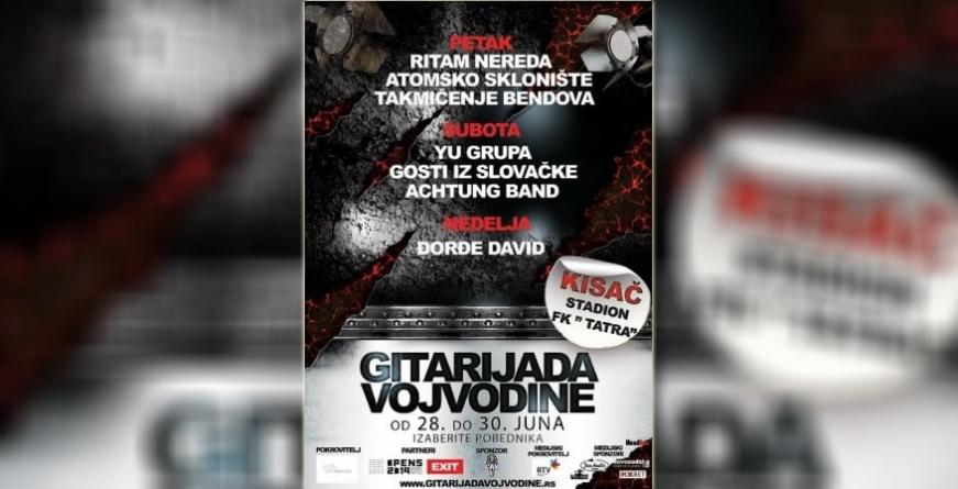 Poznata imena takmičarskih bendova Gitarijade Vojvodine