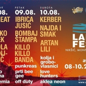 Dog Eat Dog, TBF, Nikola Vranjković, Prti Bee Gee, Kolja i drugi na Lake festu u Nikšiću