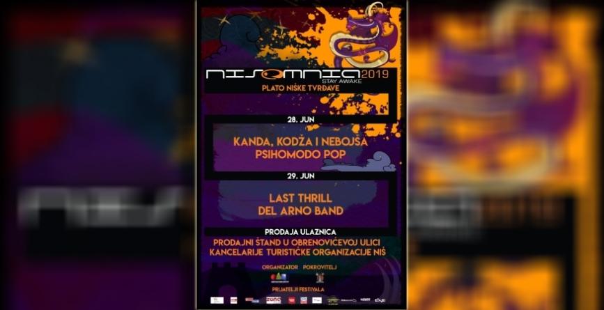 KKN, Psihomodo pop, Del Arno Bend i Last Thrillna niškom festivalu NISOMNIA 2019