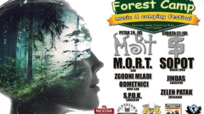 M.O.R.T, Sopot, Jindas i drugi na Forest Camp festivalu kod Han Pijeska