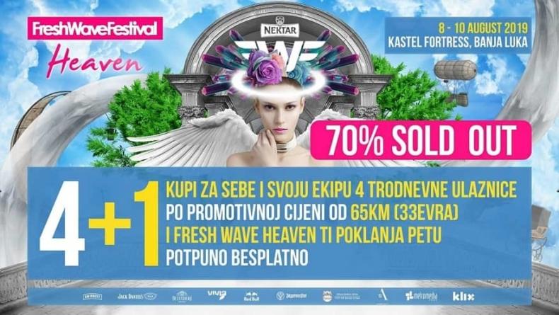 Fresh Wave Festival: Veliko interesovanje za prodajnu akciju 4+1, više od 70% paketa već rasprodato