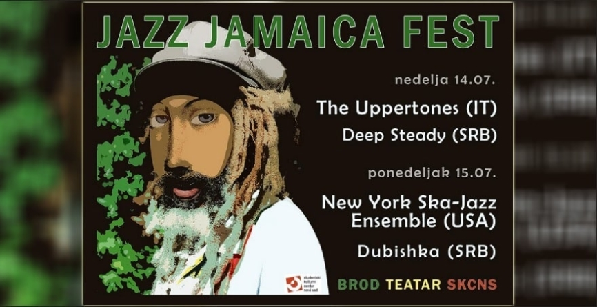 Jazz Jamaica Fest 14. i 15. jula na Brod Teatru u Novom Sadu