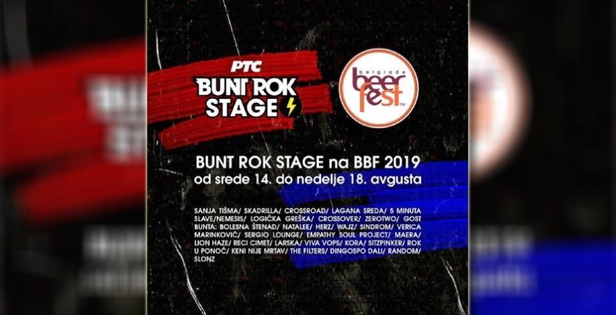 Bunt rok stage na Belgrade Beer Fest-u 2019