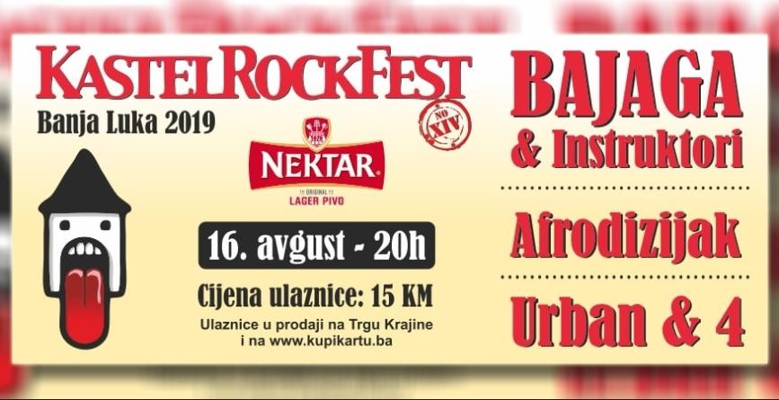 Bajaga i Instruktori, Urban & 4, Aleksandra Radović i Afrodizijak na Kastel Rock Fest-u