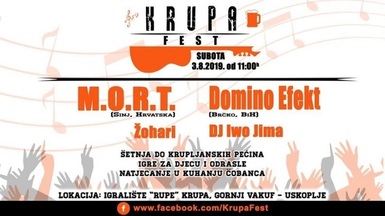 M.O.R.T. Domino Efekt i Žohari na prvom Krupa Festu