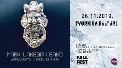Mark Lanegan 26. studenog u Tvornici Kulture