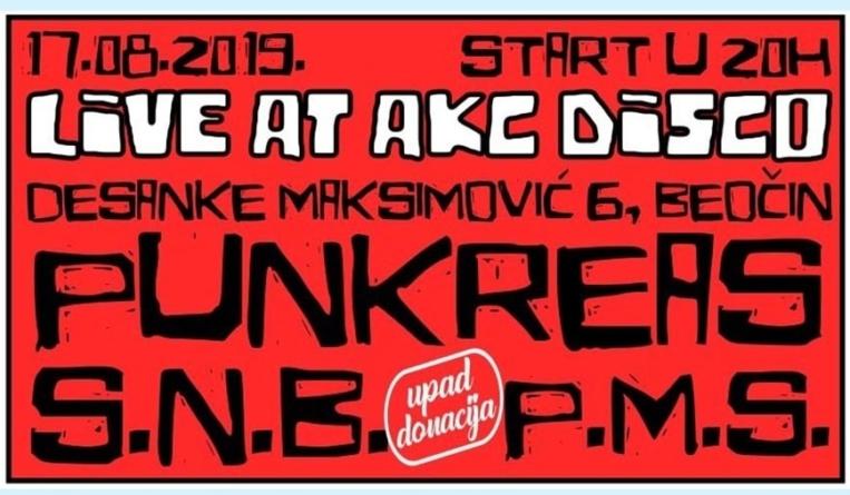 Punkreas, Skupljeni na brzinu i 5 minuta slave na otvaranju AKC Disco Beočin