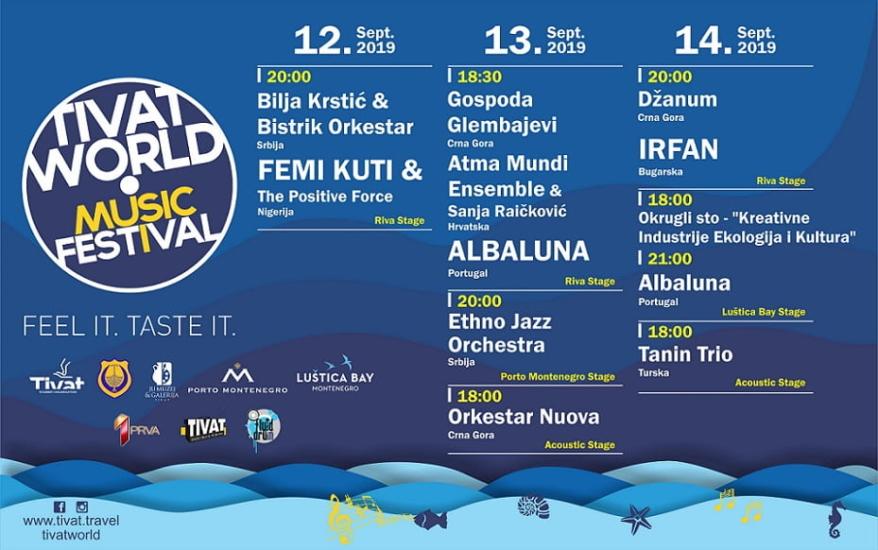 Femi Kuti & the Positive Force, Albaluna, Irfan i drugi na 3. Tivat World festivalu