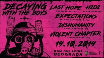 4. Decaying With The Boys 19. oktobra u Domu omladine Beograda