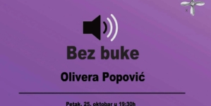 Bez Buke: Olivera Popović večeras u KC Rex