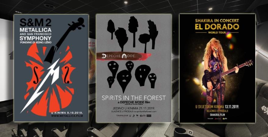 Metallica, Depeche Mode i Shakira u kino dvoranama CineStara