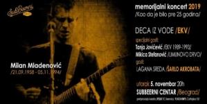"""Milan Mladenović memorijalni koncert 2019. """"Kao da je bilo pre 25 godina"""" 5.11. u SubBeernom centru"""