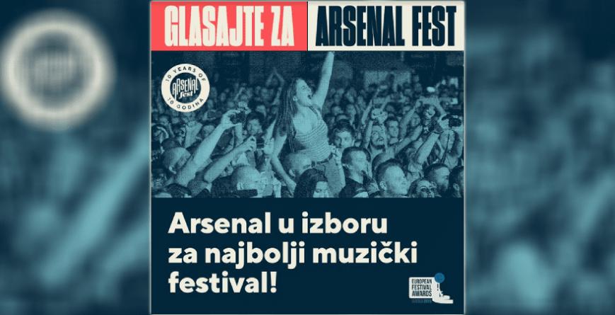 Arsenal Fest u konkurenciji za European Festival Awards
