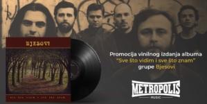 """U Muzičkoj kući Metropolis promocija ploče """"Sve što vidim i sve što znam"""" grupe Bjesovi"""
