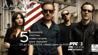 Artan Lili od danas pet premijera video spotova, pet dana zaredom na RTS-u