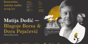 Matija Dedić u četvrtak pred zadarskom publikom interpretira djela Blagoja Berse