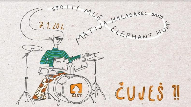 Matija Halabarec Band, Spotty Mug i Elephant Hump otvaraju 6. sezonu natjecanja Čuješ?!