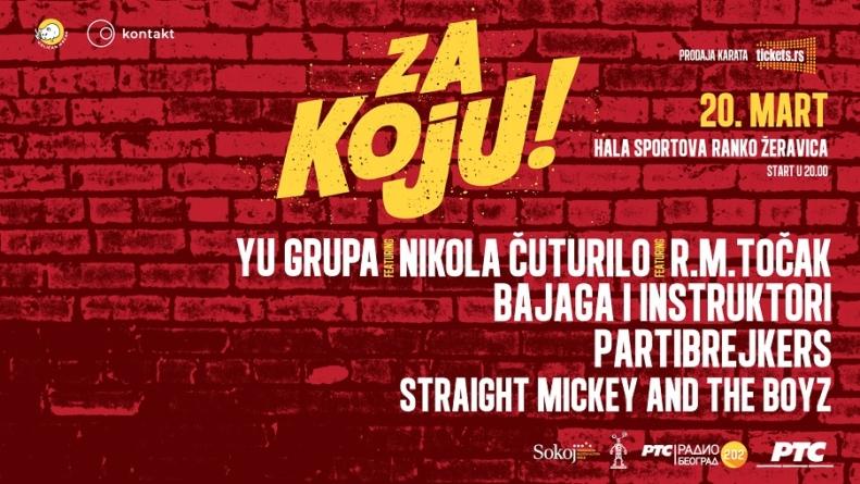 Za Koju: Partibrejkers, Bajaga i Instruktori, YU Grupa, Točak, Straight Mickey and the Boyz i Čutura