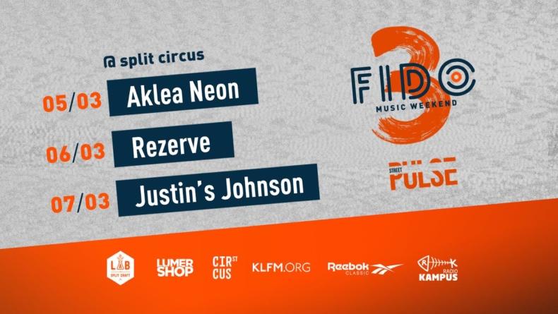 Aklea Neon, Rezerve i Justin's Johnson na 3. Fido Music Weekendu