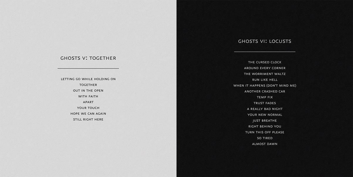 """Ghosts V: Together"""" i """"Ghosts VI: Locusts"""""""