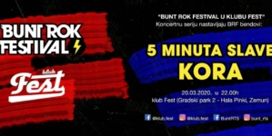 "KORA slavi deseti rođendanna trećem koncertu serije ""Bunt Rok Festival u Klubu Fest"""