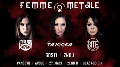 Prvi FEMME METALE festival 27.marta u Pančevu