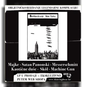 """""""Bombardiranje New Yorka"""": U prodaji obljetničko LP izdanje legendarne kompilacije u luksuznom redizajniranom ovitku"""