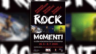 Izložba rok fotografija Rock momenti na Novom Beogradu