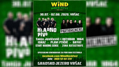 Wind Rock Fest u Vršcu od 30.07. do 02.08.