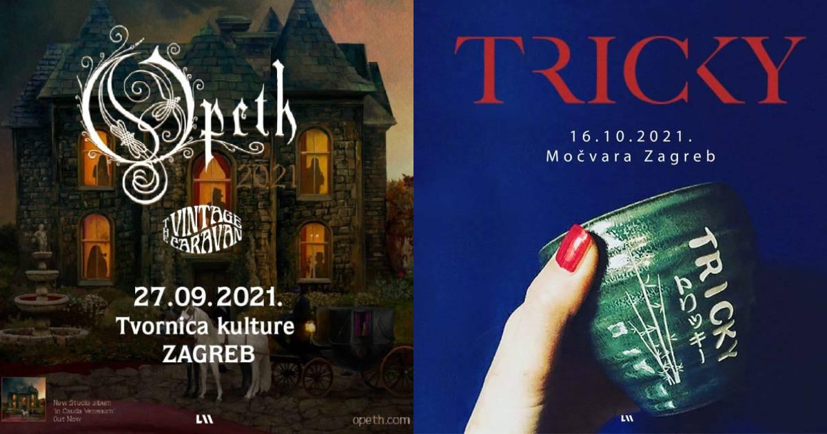 Zagrebački koncerti Trickyja i grupe Opeth dobili su svoje nove datume za kraj 2021. godine.