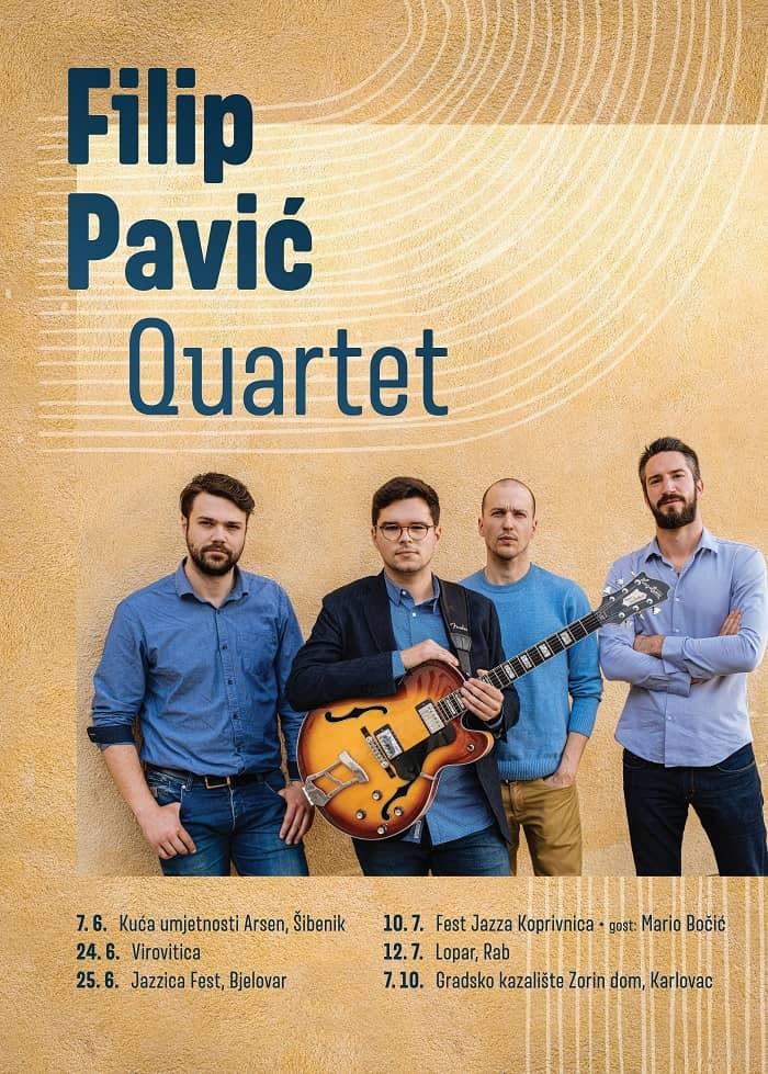 Poznati datumi ljetnih koncerata Filip Pavić Quarteta
