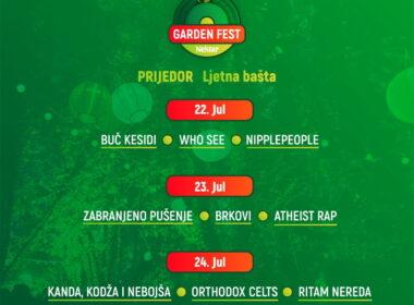 Prvi Nektar Garden Fest u Prijedoru od 22. do 24. jula