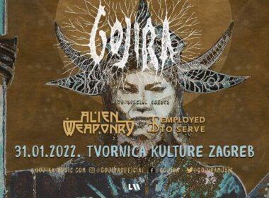 Gojira 31.01.2022. u zagrebačkoj Tvornici Kulture
