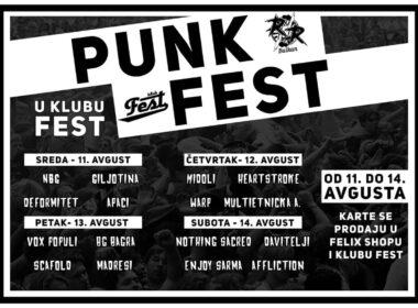 Punk Fest u klubu Fest! od 11. do 14.avgusta